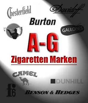A - G, Zigaretten Marken