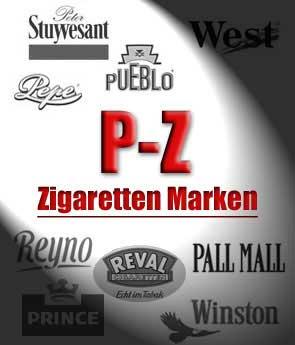 P - Z, Zigaretten Marken