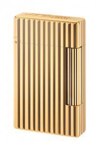 S.T. Dupont Feuerzeug Initial Ligne mit goldenem Bronzefinish