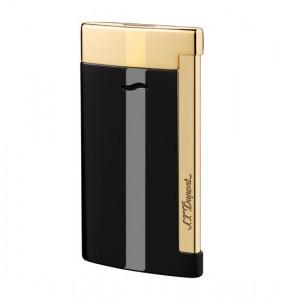 S.T. Dupont Feuerzeug Slim 7 schwarz Lack/gold