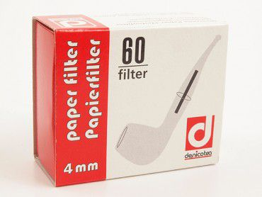 Denicotea Papierfilter 4mm / 60 Stück