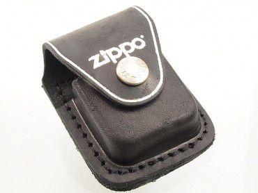 Zippo Pouch Leder schwarz mit Lasche