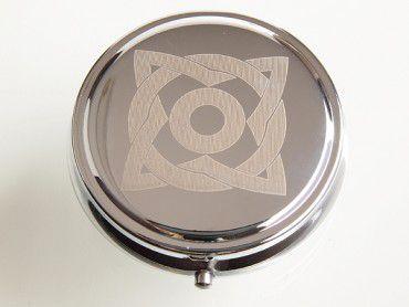 Taschenascher Laserart chrom poliert #6
