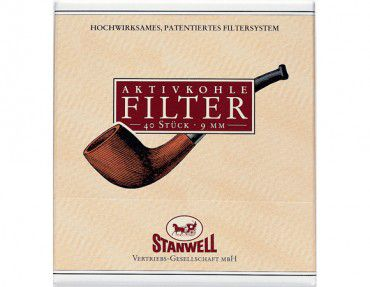 Stanwell Pfeifenfilter mit Aktivkohle / 40 Stück