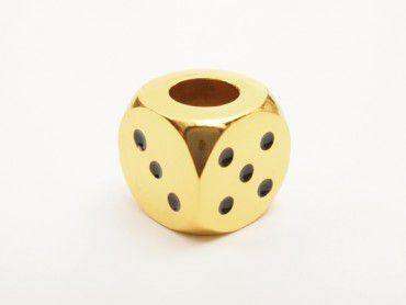 Gluttöter Würfel-Design gold