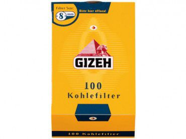 Gizeh Kohlefilter / 100 Stück