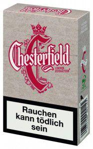 Chesterfield Red ohne Zusätze Zigaretten