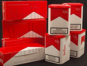 Marlboro Red Tabak Angebot, 4x100g Dose + 4x200 Hülsen