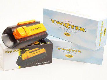 Ciggi Maker Grip Zigarettenmaschine + 2x Twister Filterhülsen