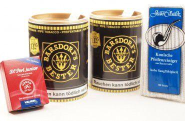 Käpt'n Barsdorf's Bester Vanilla Pfeifentabak + Filter + Reinige
