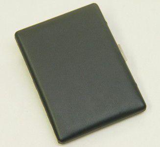 Pearl Zigarettenetui Leder schwarz - 1 seitig