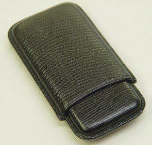 Wess Design Cigarilloetui 505 Eidechse schwarz
