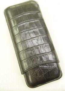 Wess Design Zigarrenetui 593 Kroko schwarz