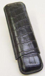 Wess Design Zigarrenetui 592 Kroko schwarz