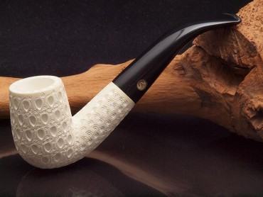 Altinay Meerschaumpfeife Medium graviert Bent