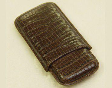Wess Design Cigarilloetui 505 Eidechse braun