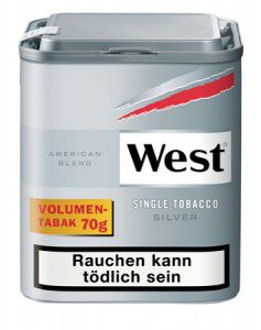 West Premium Cut Tobacco Silver / 68g Dose