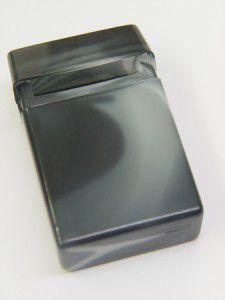 Zigarettenbox Plastik grau marmoriert