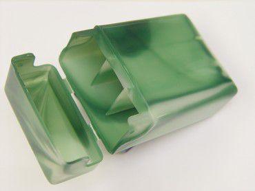 Zigarettenbox Plastik grün marmoriert