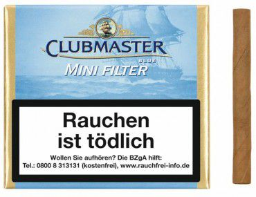 Clubmaster Cigarillos Mini Filter Blue