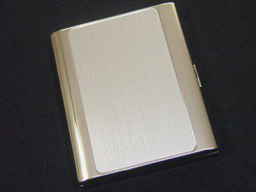 Pearl Zigarettenetui silberfarbig - 2 seitig