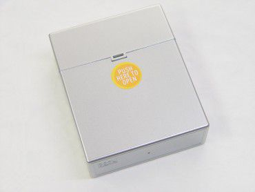 Zigarettenbox Big Pop Up Metallic silber