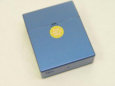 Zigarettenbox Big Pop Up Metallic blau