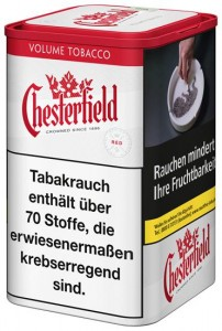 Chesterfield Red Volume Tabak / 150g Dose