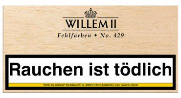 Willem II Fehlfarben No.429 Sumatra / 100er Kiste