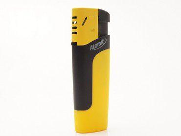 Einwegfeuerzeug Atomic Pierre Rubber gelb
