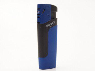 Einwegfeuerzeug Atomic Pierre Rubber blau