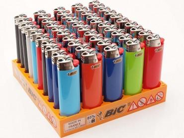 50x Einwegfeuerzeug Bic Maxi farblich sortiert