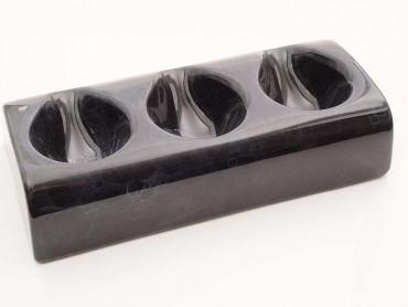 Pfeifenständer Keramik Schaumdekor für 3 Pfeifen