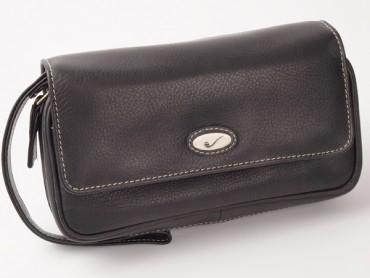 Pfeifentasche Leder schwarz #7