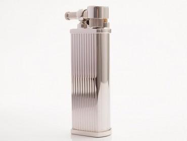 Pearl Pfeifenfeuerzeug Bolbo silberfarben liniert