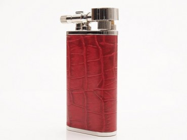 Pearl Pfeifenfeuerzeug Stanley Krokoprägung rot