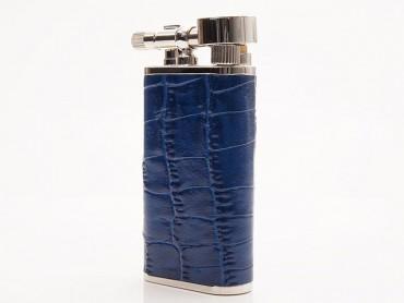 Pearl Pfeifenfeuerzeug Stanley Krokoprägung blau