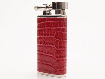Pearl Pfeifenfeuerzeug Stanley Eidechsenprägung rot