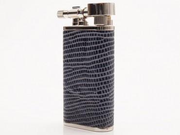 Pearl Pfeifenfeuerzeug Stanley Eidechsenprägung blau
