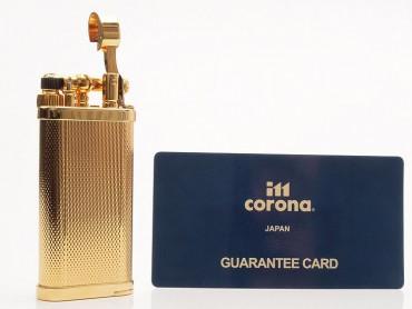 IM Corona Pfeifenfeuerzeug Old Boy gekörnt vergoldet