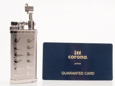 IM Corona Pfeifenfeuerzeug Old Boy Pfeifenmotive Rhodium