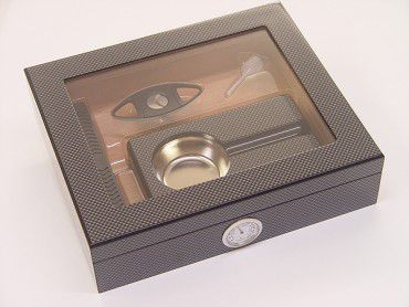Humidor-Set Carbon-Optik