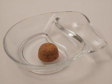 Pfeifenascher Glas transparent oval