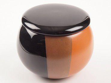Tabaktopf Keramik schwarz/braun #1