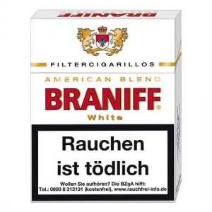 Braniff White Filtercigarillos