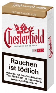 Chesterfield Red King Size Filtercigarillos