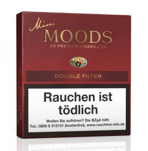 Dannemann Mini Moods Double Filter / 20er Packung