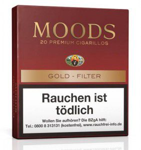 Dannemann Moods Gold Filter / 20er Packung