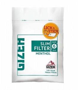 Gizeh Slim Filter Menthol / 120 Stück