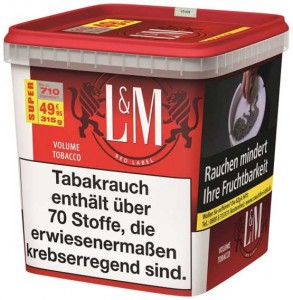 L&M Red Label Volume Tobacco Gigabox / 280g Dose